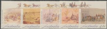 AUS SG1254-8 Colonial Development (2nd issue), Gold Fever set of 5 singles